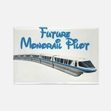 Future Monorail Pilot Rectangle Magnet