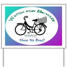Watch for Bicycles Yard Sign