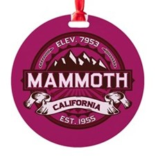 Mammoth Raspberry Round Ornament