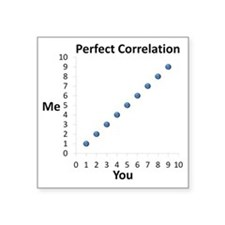 """Perfect Correlation Square Sticker 3"""" x 3"""""""