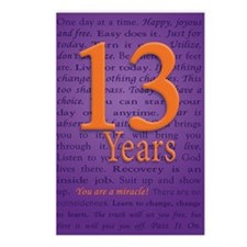 13 Year Recovery Birthday Postcards (Package of 8)