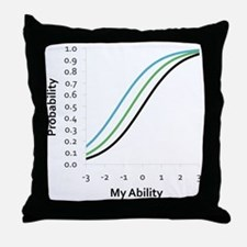 Logistic Statistical Curves Throw Pillow