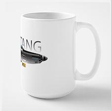 Mustang P-51 drawing on Large Mug