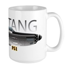Mustang P-51 drawing on Mug