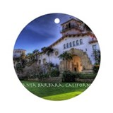 Santa barbara Round Ornaments