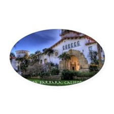 Courthouse Oval Car Magnet