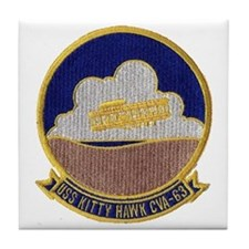 uss kitty hawk cva patch transparent Tile Coaster