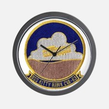 uss kitty hawk cva patch transparent Wall Clock