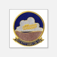 "uss kitty hawk cva patch tr Square Sticker 3"" x 3"""