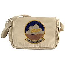 uss kitty hawk cva patch transparent Messenger Bag