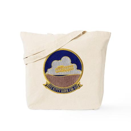 uss kitty hawk cva patch transparent Tote Bag