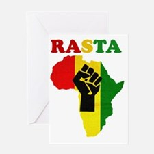 Rasta Black Power Africa Greeting Card