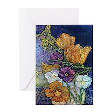 Poppies & Pansies Greeting Card