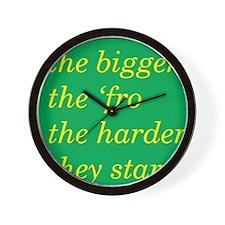 TBTF green/yellow Wall Clock