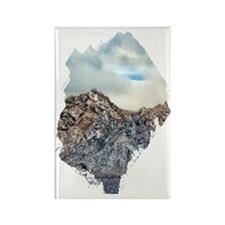 mountain snow dusting Rectangle Magnet