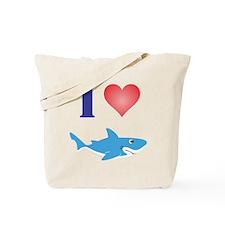I Love Great Whites Tote Bag