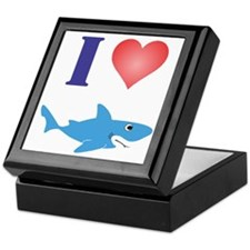 I Love Great Whites Keepsake Box