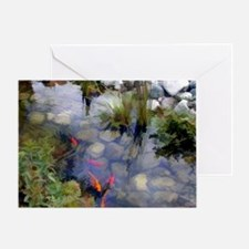 Koi Pond copy Greeting Card