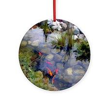 Koi Pond copy Round Ornament