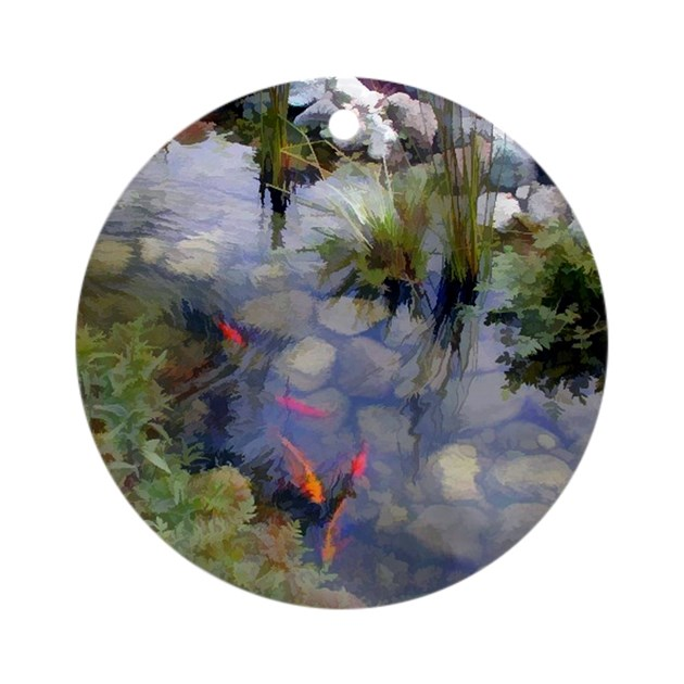 Koi pond copy round ornament by admin cp51336015 for Round koi pond