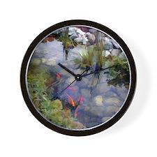 Koi Pond copy Wall Clock
