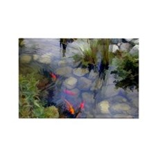 Koi Pond copy Rectangle Magnet