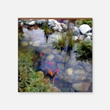 "Koi Pond copy Square Sticker 3"" x 3"""