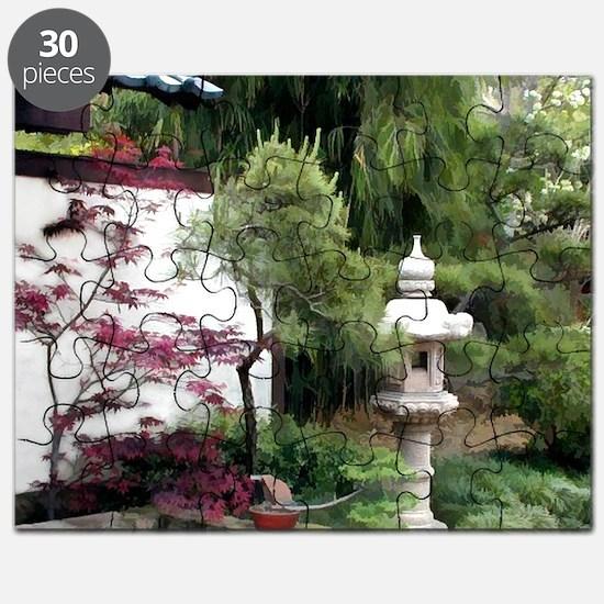 Japanese Lantern at Garden Entry copy Puzzle