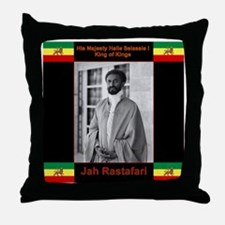 Haile Selassie I Jah Rastafari Throw Pillow