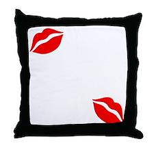 Kiss The Chef white Throw Pillow