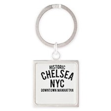 Historic Chelsea NYC Square Keychain
