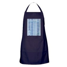 Blue Baby Shoes Apron (dark)