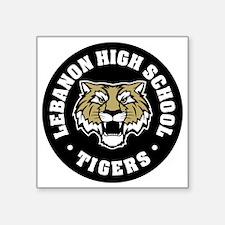 """LHS Tigers Square Sticker 3"""" x 3"""""""