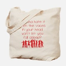 Voices In Your Head Red Tote Bag