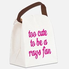 Too Cute to be a Rays Fan Canvas Lunch Bag