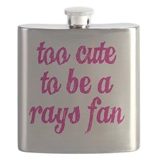 Too Cute to be a Rays Fan Flask