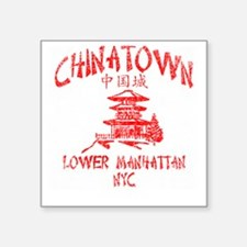 "Chinatown Takeout Tee Square Sticker 3"" x 3"""