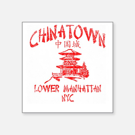 """Chinatown Takeout Tee Square Sticker 3"""" x 3"""""""