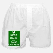 Keep Calm and Raise Chickens (Green) Boxer Shorts