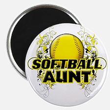 Softball Aunt (cross) Magnet