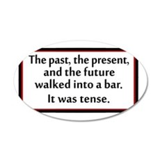 The past, present and future 35x21 Oval Wall Decal