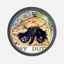 Scottish Terrier Off Duty Wall Clock