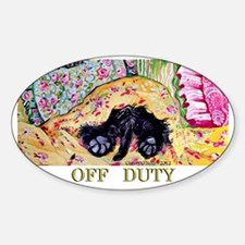 Off Duty Scottish Terrier Decal