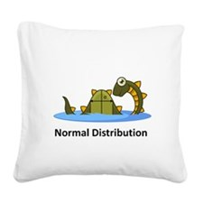 Normal Distribution Square Canvas Pillow