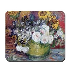 Van Gogh Roses And Sunflowers Mousepad