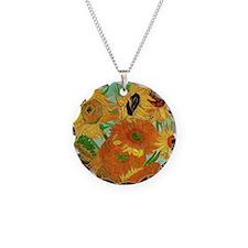 Van Gogh twelve sunflowers Necklace