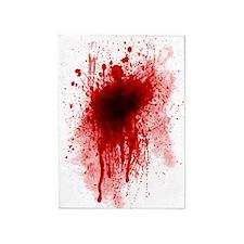 blood sheet twin 5'x7'Area Rug