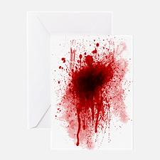 blood sheet twin Greeting Card