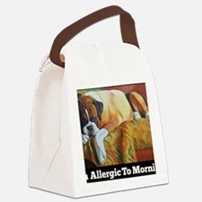 Allergic to Morning Canvas Lunch Bag