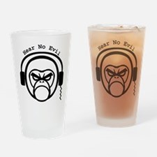 Hear No Evil - Curved Text Drinking Glass